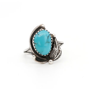 * Native American Sterling & Turquoise Ring (6)