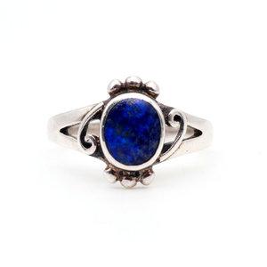 * Sterling & Lapis Ring (5.5)