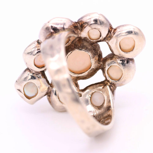 * Sterling & Pearl Ring (9)