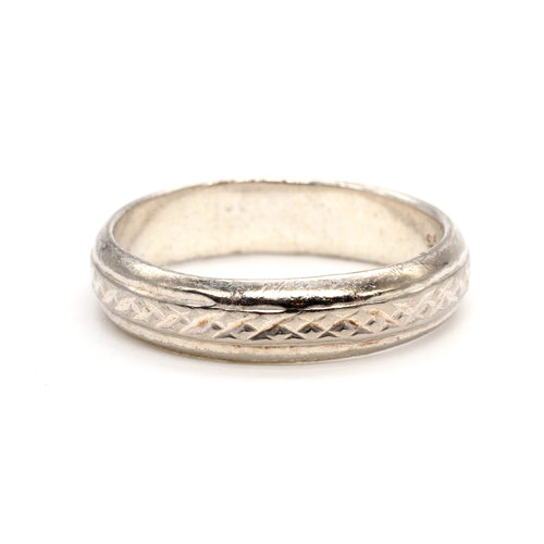 * Etched Sterling Band (9.5)