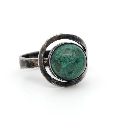 * Sterling and Chrysocolla Ring