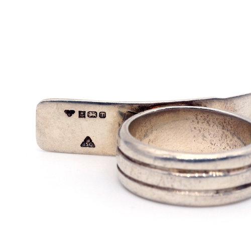 * Modernist Sterling Ring (10)