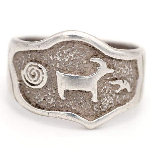 * Southwest Style Sterling Ring (9.5)