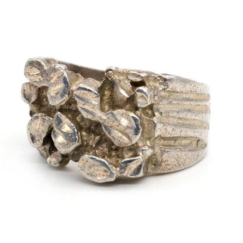 * Brutalist Sterling Ring (8)