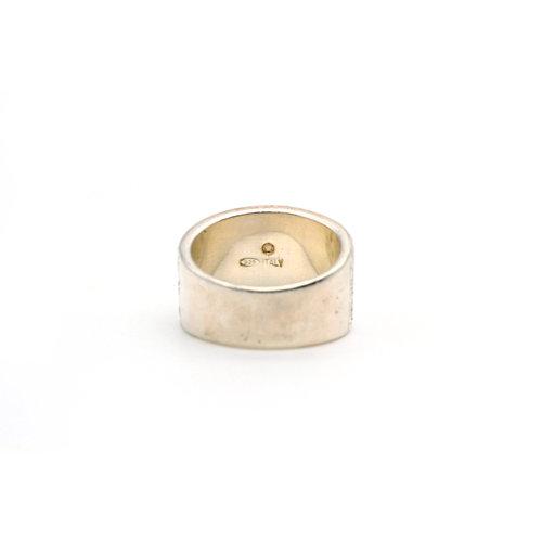 * Modernist Sterling Glitter Ring (6.5)