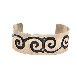 * Sterling Silver Tribal Waves Cuff