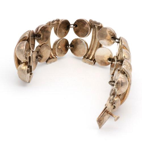 * Sterling Silver Geometric Studded Bracelet