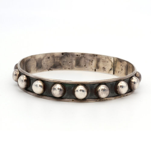 * Mexican Sterling Silver Studded Bangle