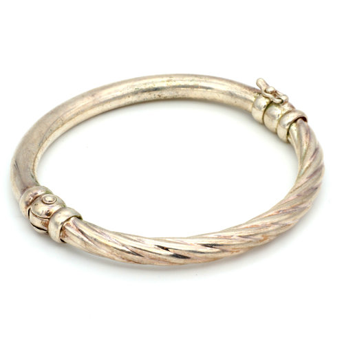 * Sterling Twisted Hinged Bangle