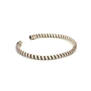 * Sterling Silver Twisted Rope Cuff