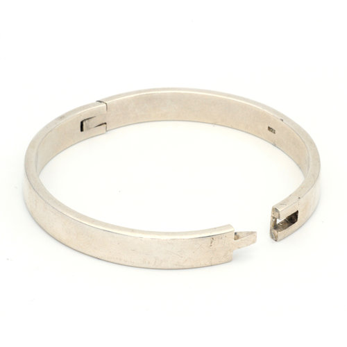 * Sterling Silver Hinged Bangle