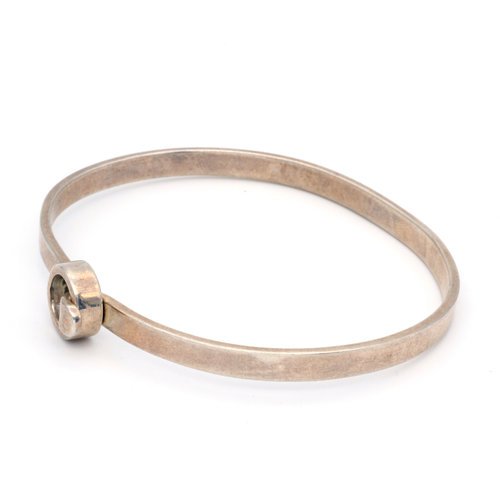 * Sterling Silver Modernist Buckle Bangle