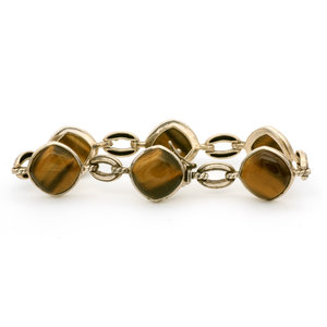 * Sterling Silver Tigers Eye Bracelet