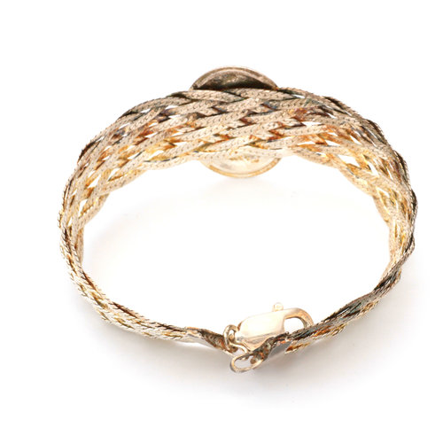 * Italian Sterling Cameo Chain Bracelet