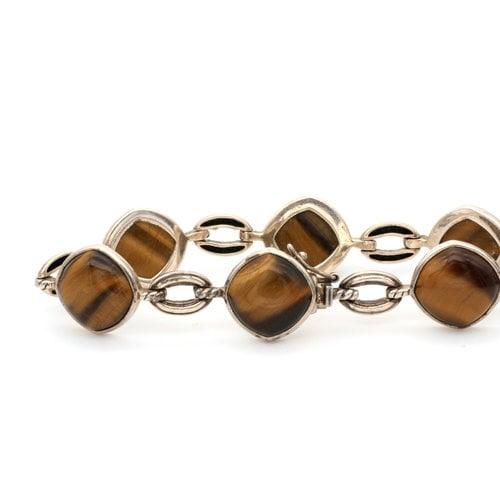 * Sterling Silver Tigers Eye Bracelet