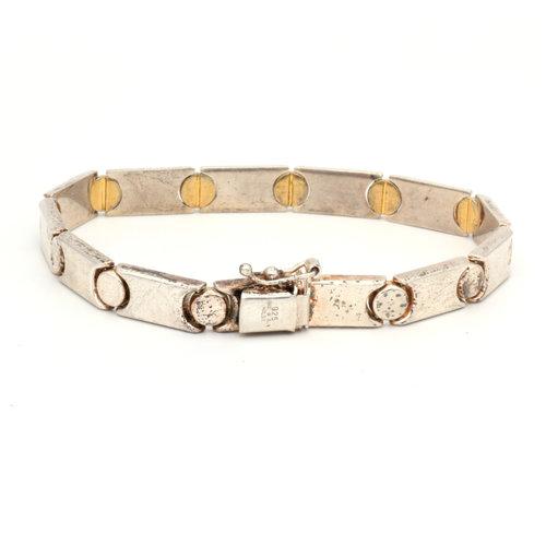 * Italian Sterling Screwhead Bracelet