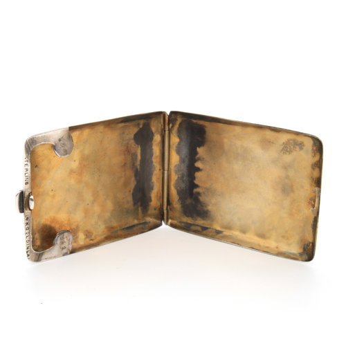 Sterling Cigarette Case w/ Gold Inlay