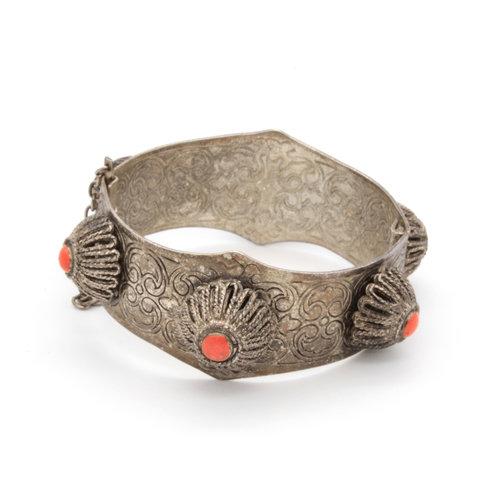 Persian Silver Coral Cuff