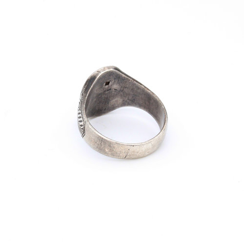Sterling Masonic Inlay Ring