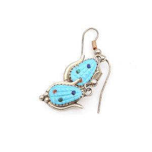 Sterling Turquoise Corn Earrings