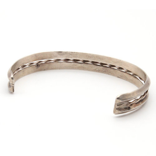 Sterling Punched Rope Cuff