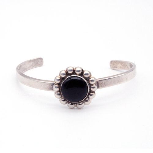 Sterling Mexican Onyx Bracelet