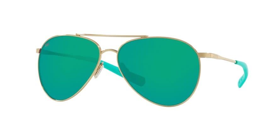 Costa Costa Piper Shiny Gold Frame Green Mirror Lens 580G