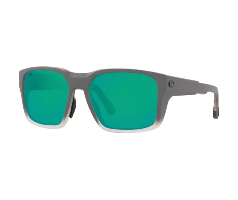 Costa Costa Tail Walker 277 Matte Fog Grey Frame w/ Green Mirror 580G Lens