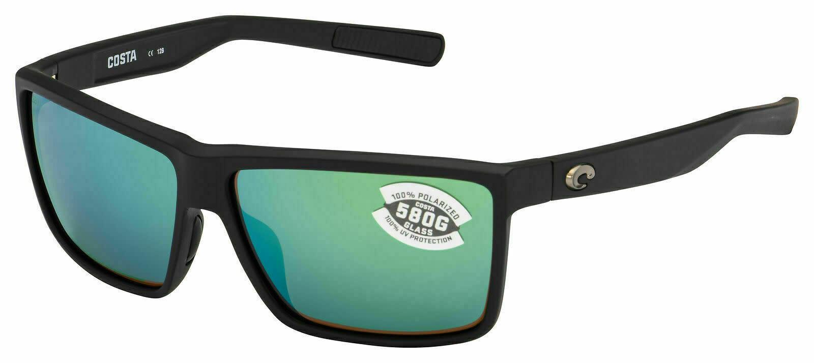 Costa Costa Rinconcito Matte Black w/ Green Mirror 580G Lens