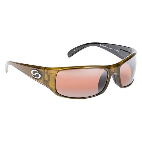 Strike King Strike King SG-S1162 Okeechobee Sunglasses Polarized, ClrGld-Blk DAB/Amber