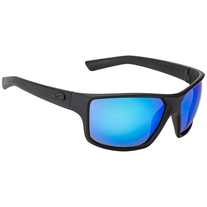 Strike King Strike King SG-S11402 S11 Optics Clinch Sunglasses Polarized, Matte Black/White Blue Mirror Gray Base