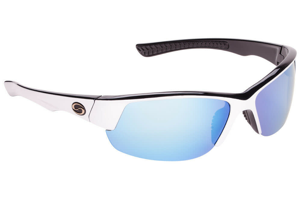 Strike King Strike King SG-S11541 Gulf Sunglasses Polarized, WhtBlk 2 Tone/ML Blue Mirror