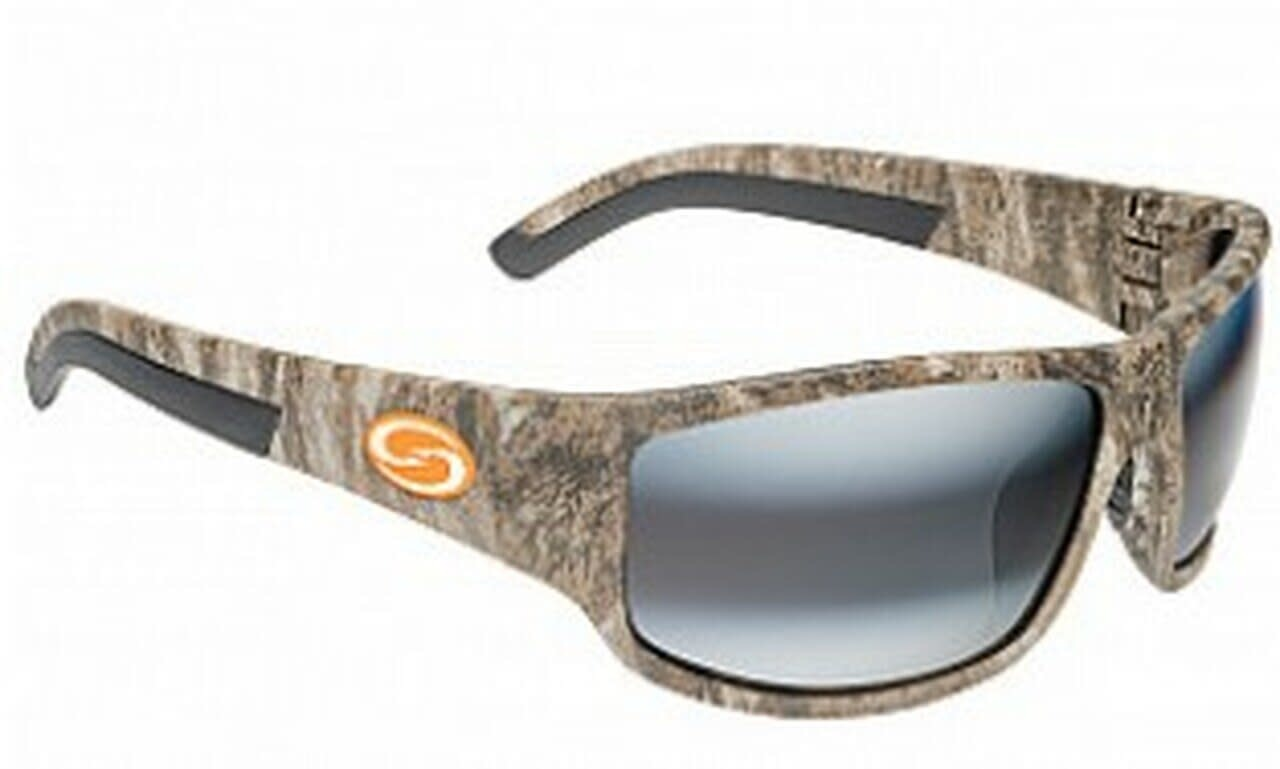 "Strike King Strike King SG-S11712 Caddo Mossy Oak Camo/Black Rubber - DAB Amber Lens - Orange ""S"" Logo"