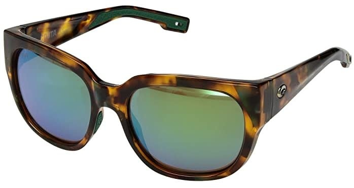 Costa Costa Waterwoman Shiny Palm Tortoise Frame Green Mirror Lens 580G