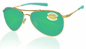 Costa Costa Piper Shiny Gold Frame Green Mirror 580P PIP126OGMP