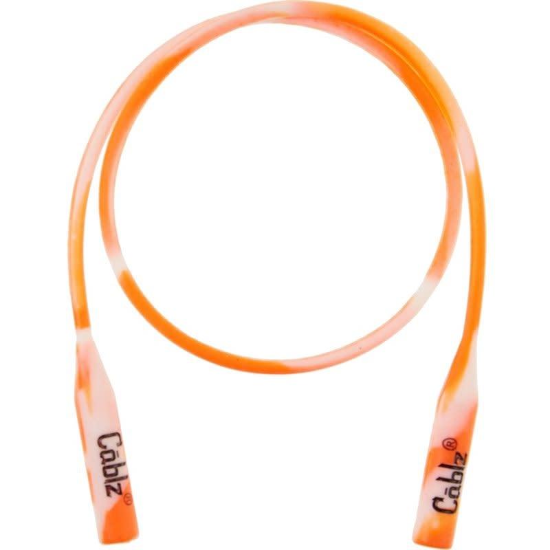 "Cablz Cablz Silicone Orange/Wht Silicone Eyewear Retainer 16"" Orange & White"