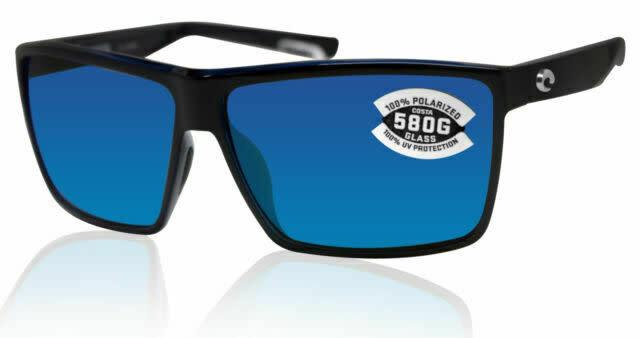 Costa Costa Rincon Shiny Black Frame w/ Gray Blue Mirror 580G Lens