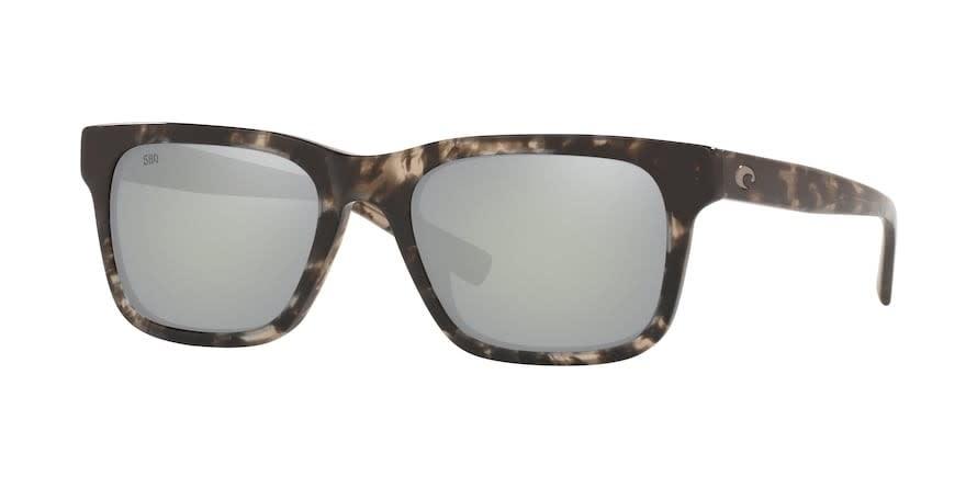 Costa Costa Tybee 223 Shiny Black Kelp Frame Gray Silver Mirror 580G
