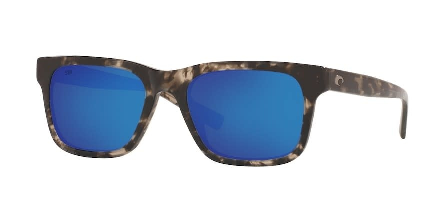 Costa Costa Tybee 223 Shiny Black Kelp Frame Blue Mirror 580G