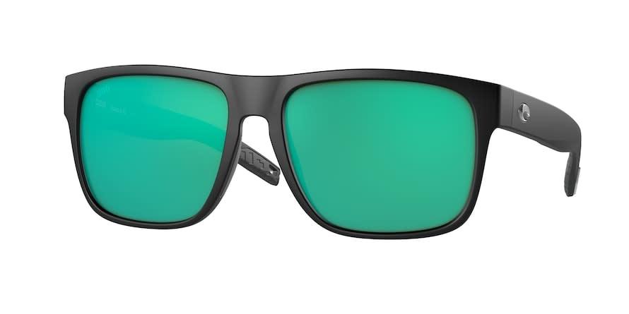Costa Costa Spearo XL Matte Black Frame, Green Mirror 580G