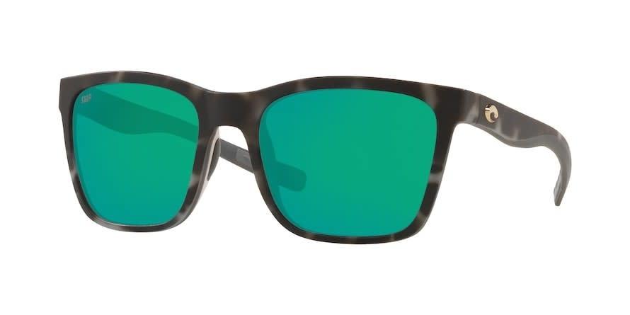 Costa Costa Panga Matte Gray Tortoise Frame, Green Mirror Lens 580P
