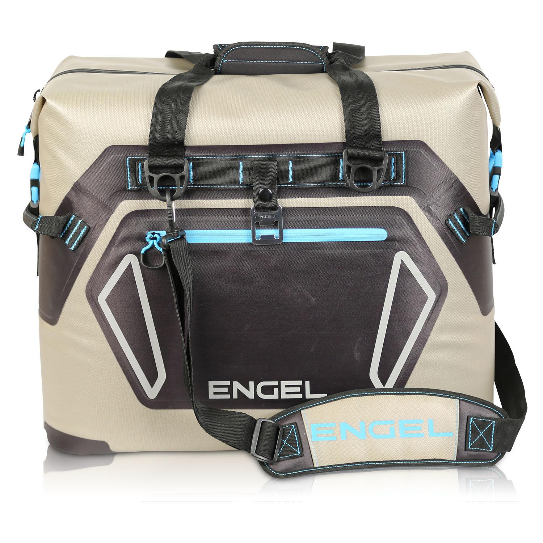 Engel HD20 22qt Heavy-Duty Soft Sided Cooler Tote Bag, Tan/Blue