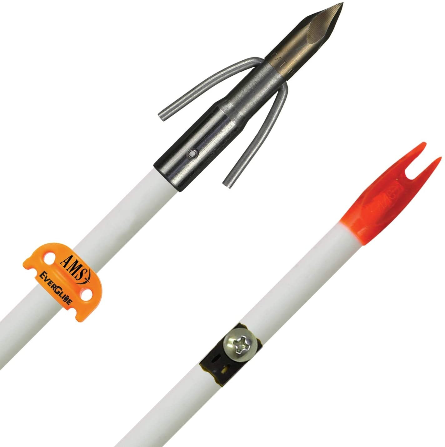 AMS AMS Fiberglass Bowfishing Arrow, Chaos Point White Shaft, 3166-0032