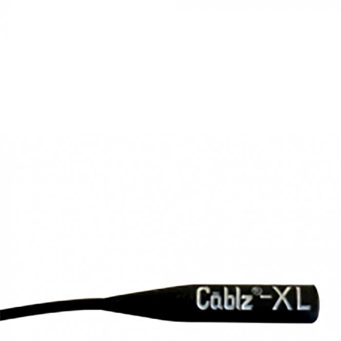 """Cablz Cablz XLSiliconeBlack XL Silicone, 16"""" Black XL Ends"""
