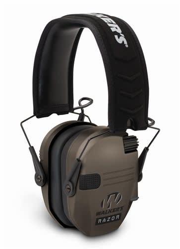 Walker's Walkers Razor Slim Shooter Folding Electronic Ear Muff, NRR23dB, Low Profile, HD Sound, Flat Dark Earth