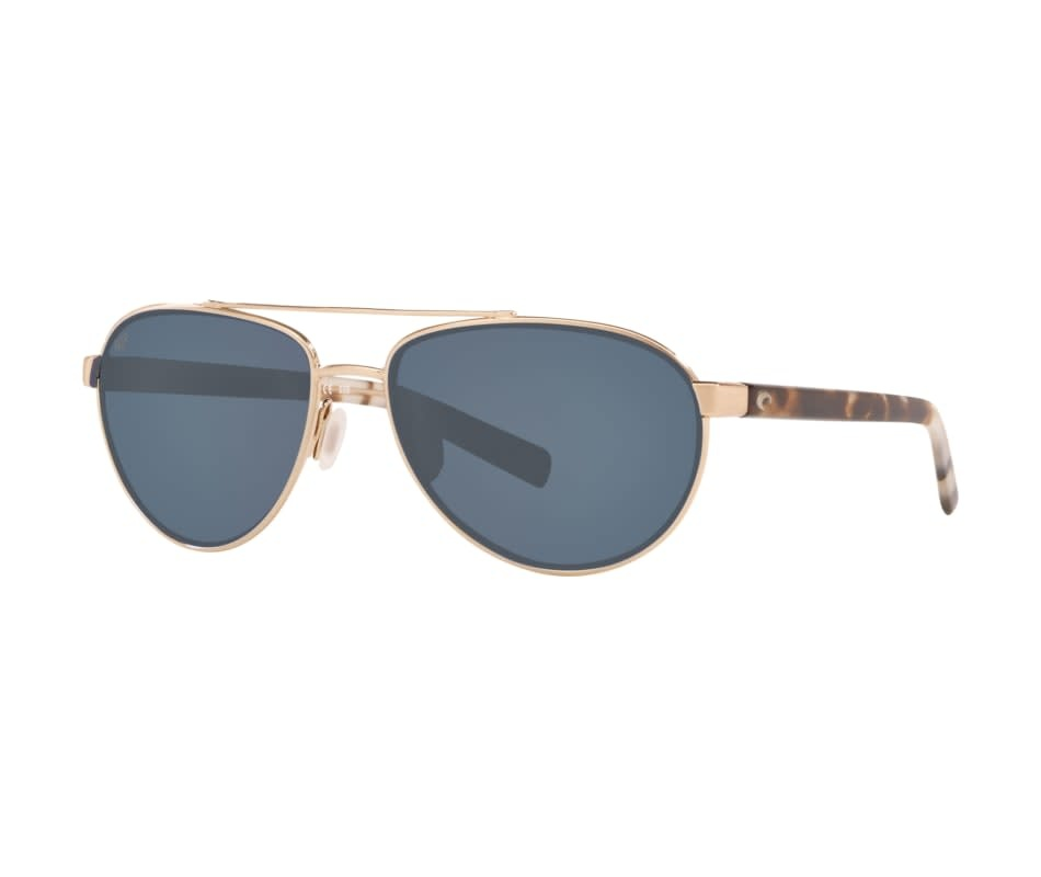 Costa Costa Fernandina 226 Brushed Gold Frame, Gray Blue Mirror 580G