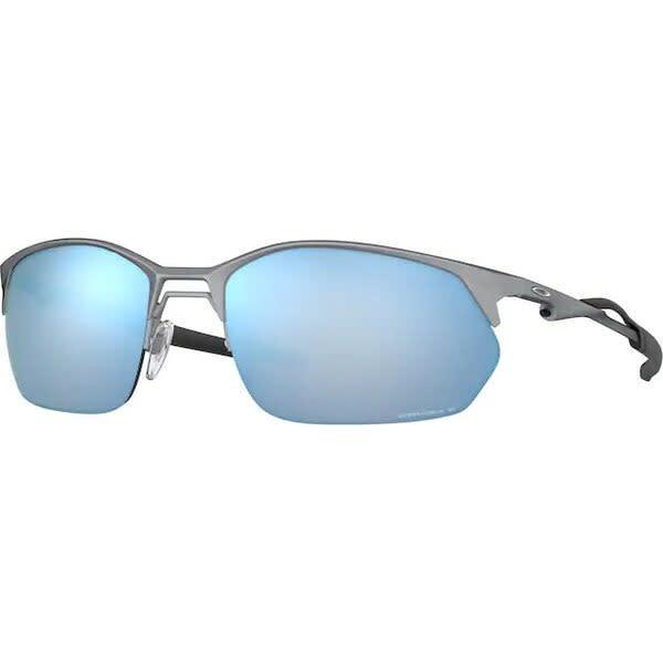 Oakley Oakley Wire Tap 2.0 Satin Lead w/ Prizm Deep Water Polarized Sunglasses