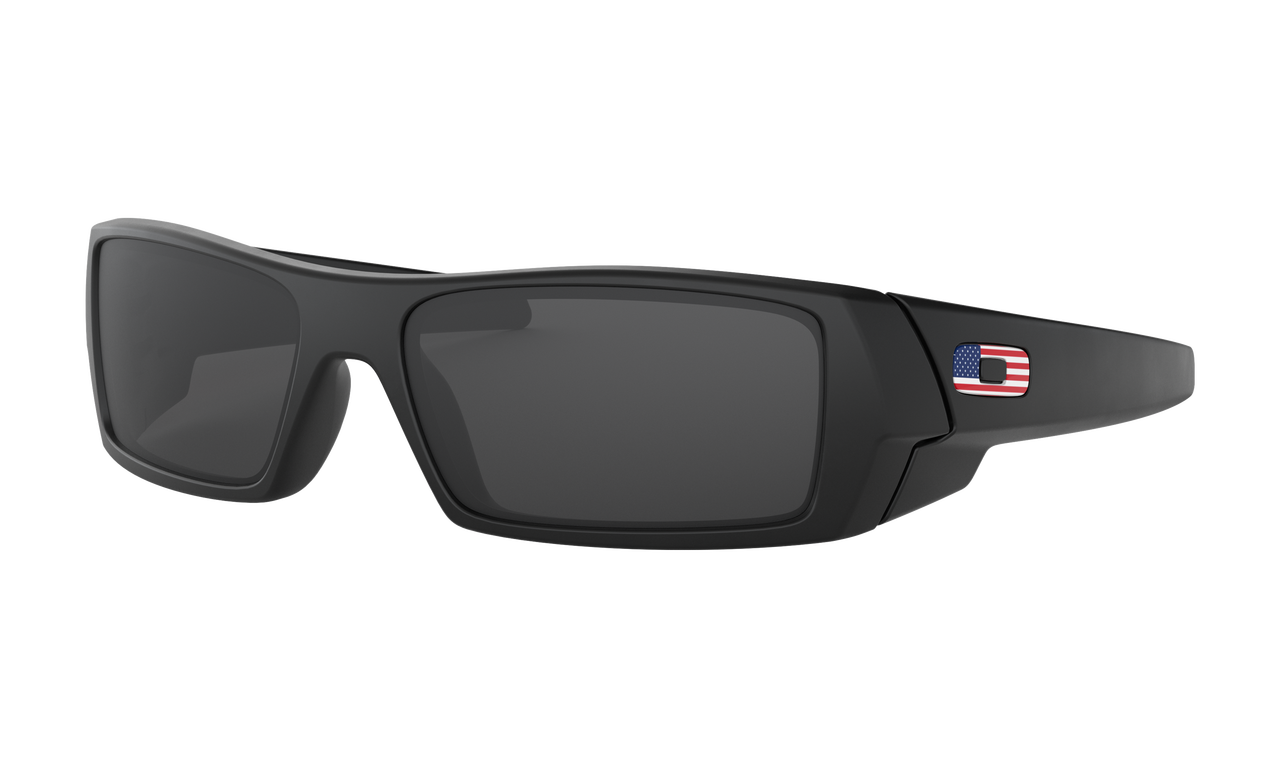 Oakley Oakley Gascan Matte Black w/ Prizm Grey American Flag Glasses