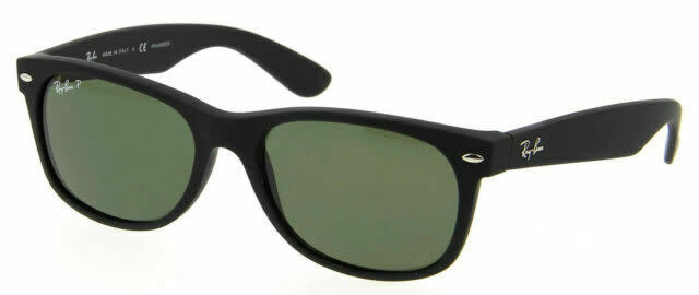 Rayban Rayban New Wayfarer Rubber Black Frame w/ G-15 Green Lens