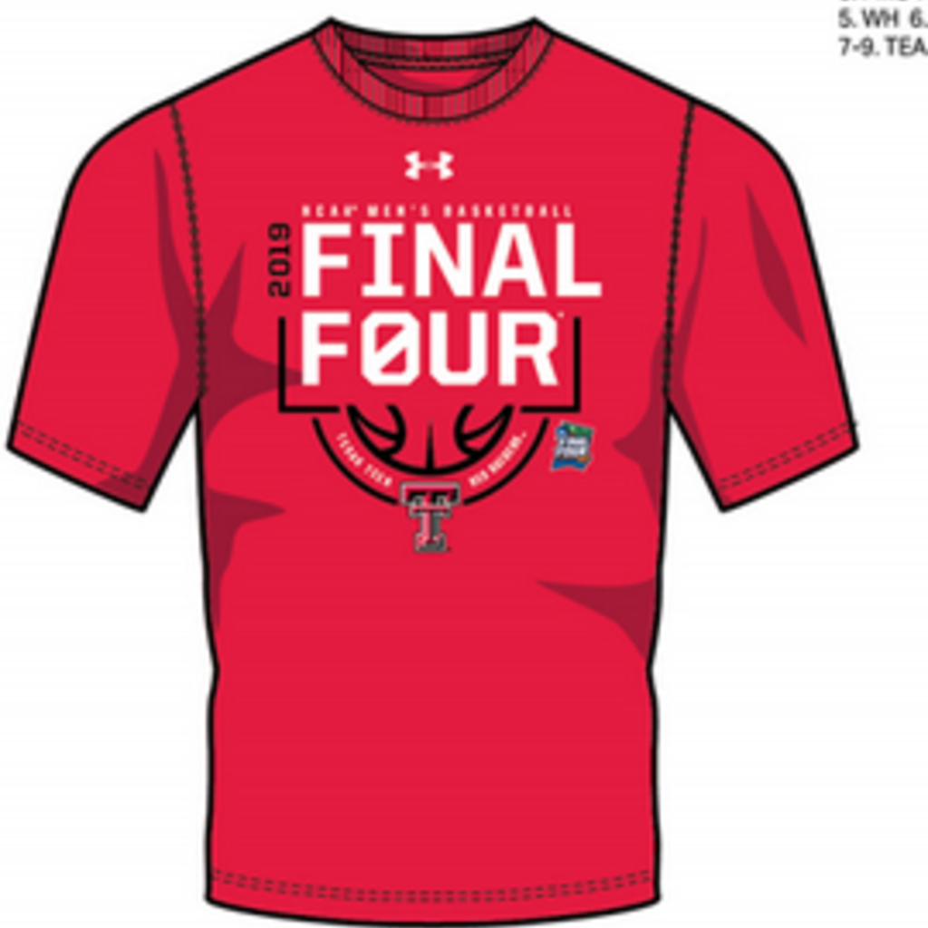 Under Armour Final Four Double T Logo Below Basketball Short Sleeve